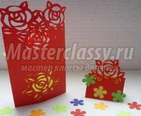 Киригами. Контурная открытка с розами к 8 Марта. Мастер-класс с пошаговыми фото