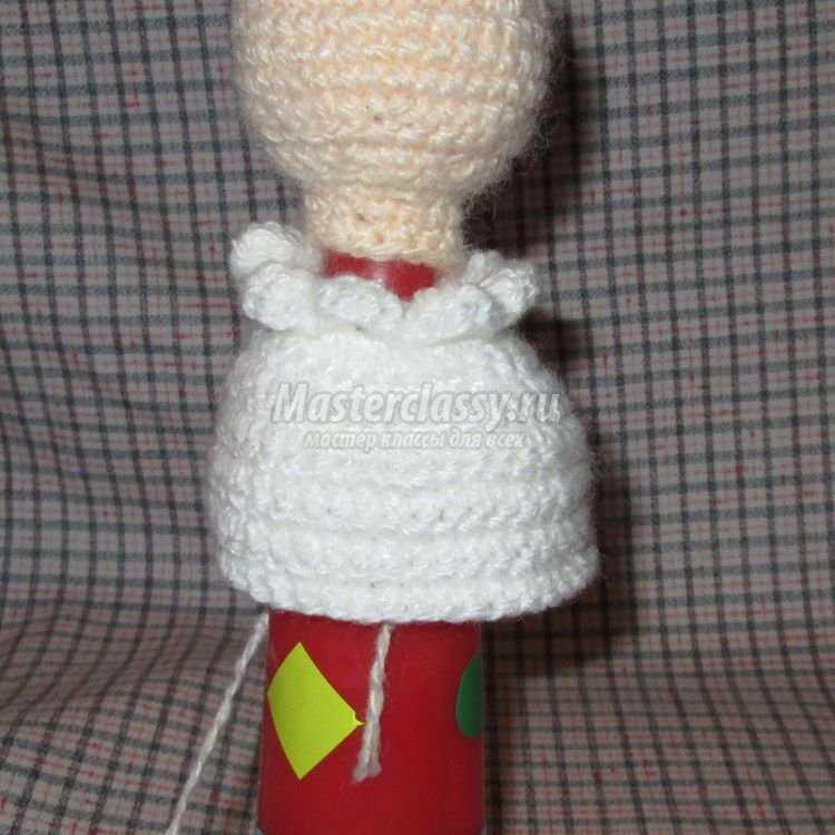 Вязание крючком. Игрушка из кегли