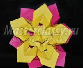 Оригами. Цветок из модулей на 8 Марта. Мастер-класс с пошаговыми фото