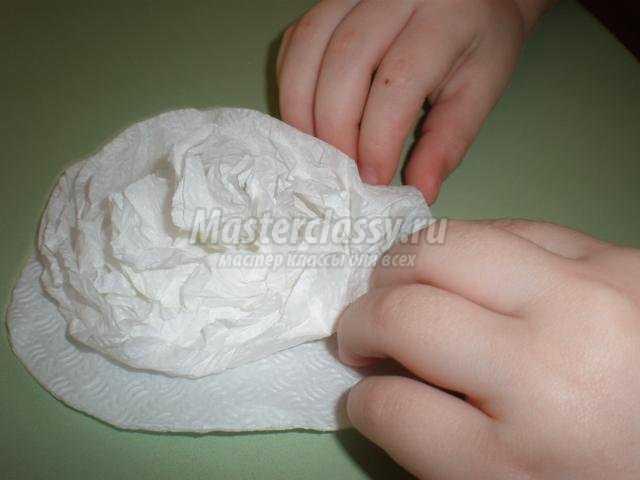 снеговик из салфеток своими руками