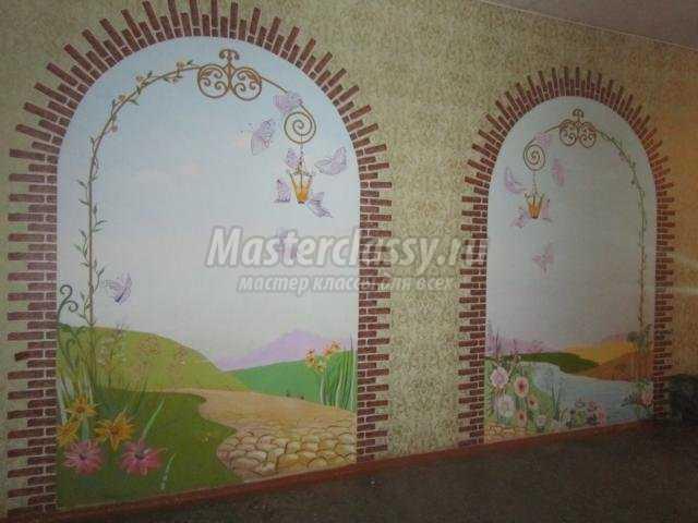 художественная роспись фойе школы