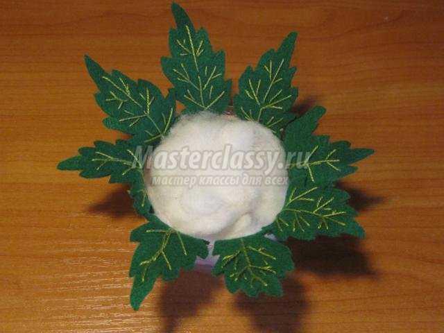 цветок-игольница из фетра своими руками
