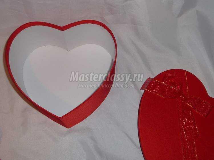 мастер-класс из конфет. Сердце в подарок