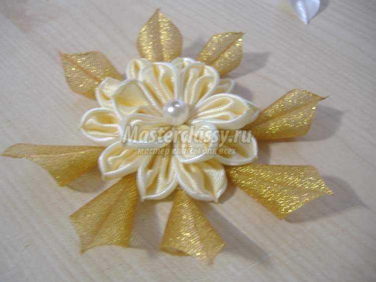 Цветок -канзаши за 2 часа