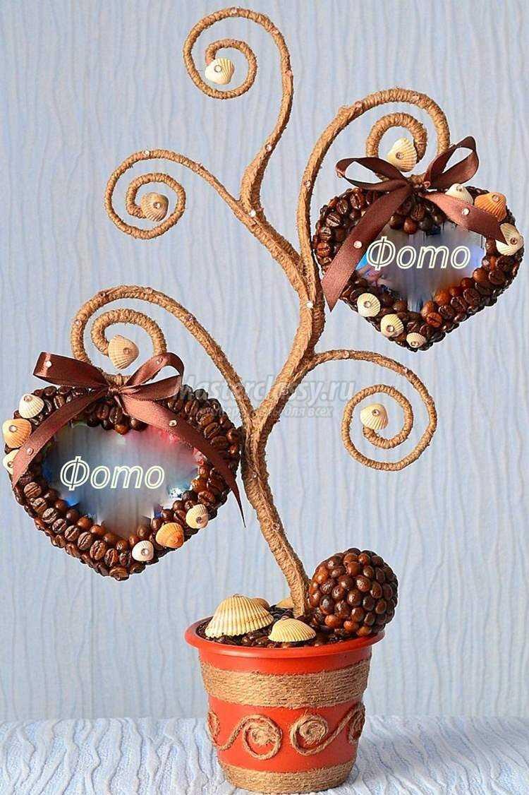 кофейное дерево с фоторамками
