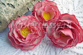 Комплект бижутерии с цветами из полимерной глины. Нежные весенние цветы. Пошаговый мастер-класс