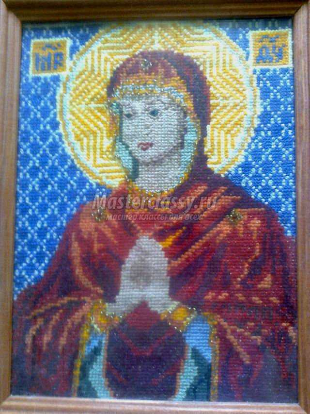 вышивка крестиком иконы. Богородица