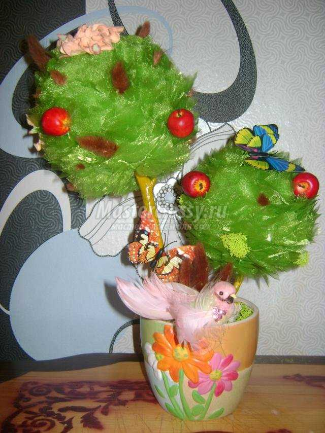 деревце счастья своими руками из органзы