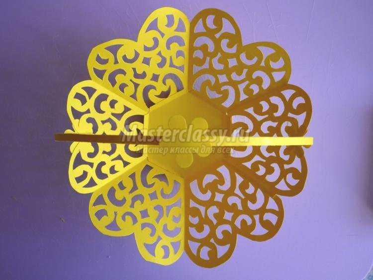 киригами. Пасхальная кружевная корзинка из бумаги