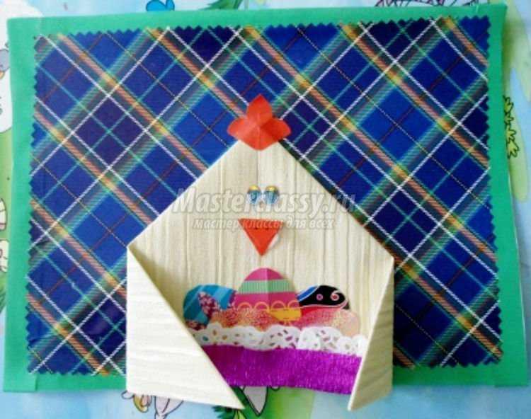 объемные пасхальные открытки своими руками. Яйцо с цыплятами