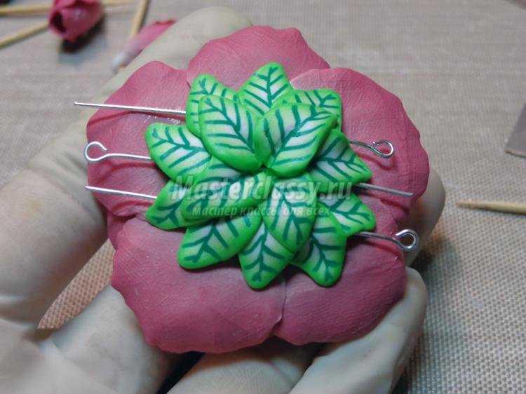 комплект украшений из полимерной глины. Райские цветы