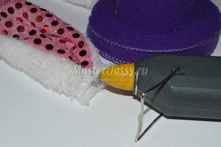 шляпка пасхального кролика из фетра