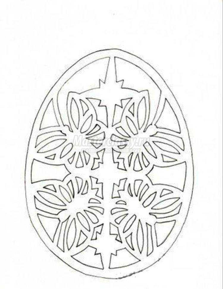 пасхальная открытка-яйцо