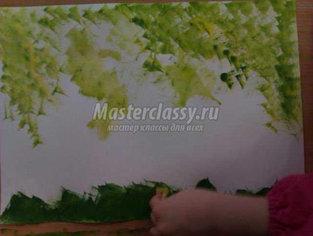 пасхальная картина в технике пальчиковой живописи