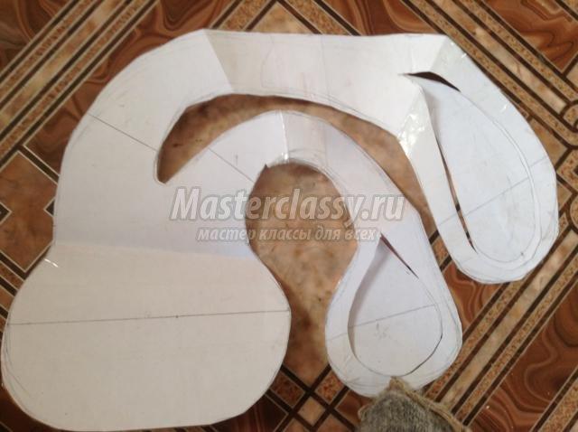 подушка-зайчик из ткани своими руками