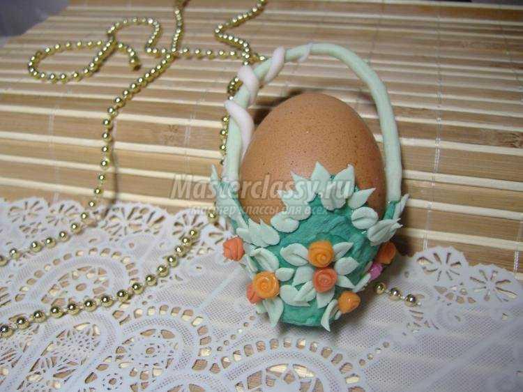 корзинки для пасхальных яиц из холодного фарфора