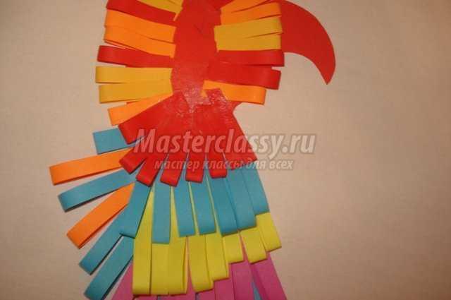 поделки из бумаги «Попугай»