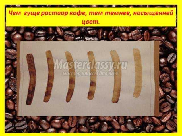 рисунки кофейным раствором