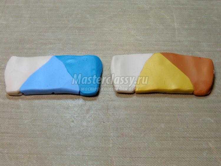 Переход цвета из полимерной глины мастер класс с пошаговым 67