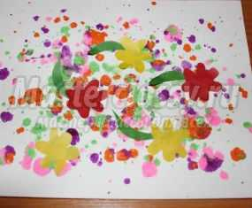 Малювання м'ятою папером