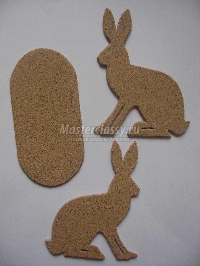 подставка для салфеток из картона. Пасхальный кролик