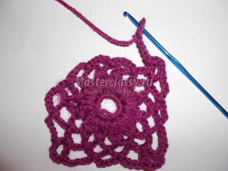 вязание ажурного шарфа крючком