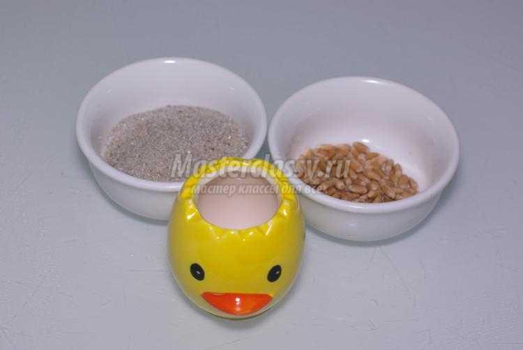 декор пасхального стола. Пшеничка из яичка