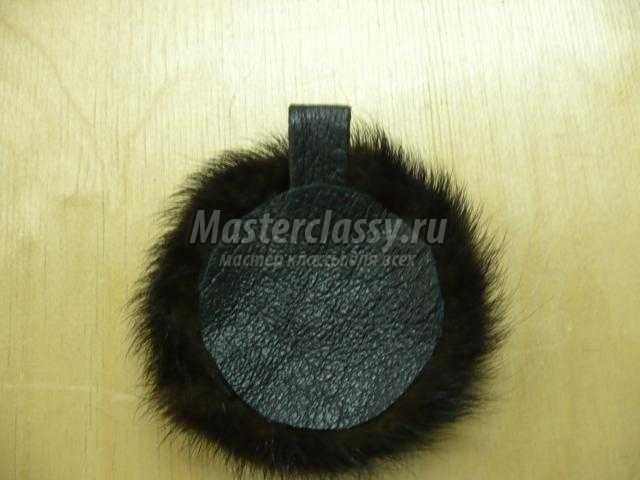 украшения кулон с натуральным мехом