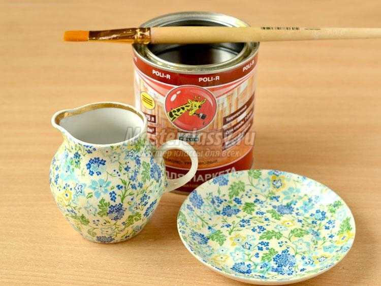 декупаж чайного набора своими руками