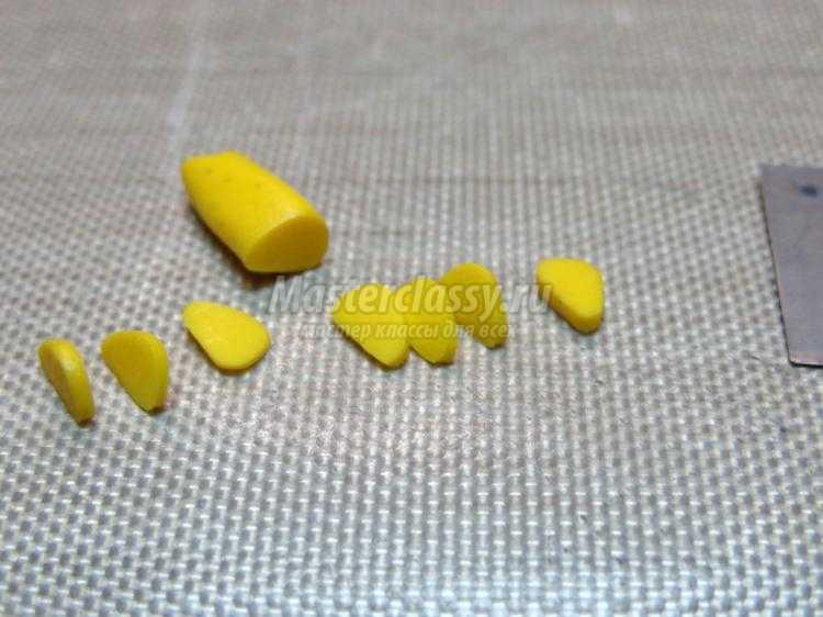 комплект украшений из полимерной глины. Подсолнухи