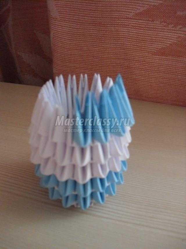 пасхальное яйцо в технике модульное оригами