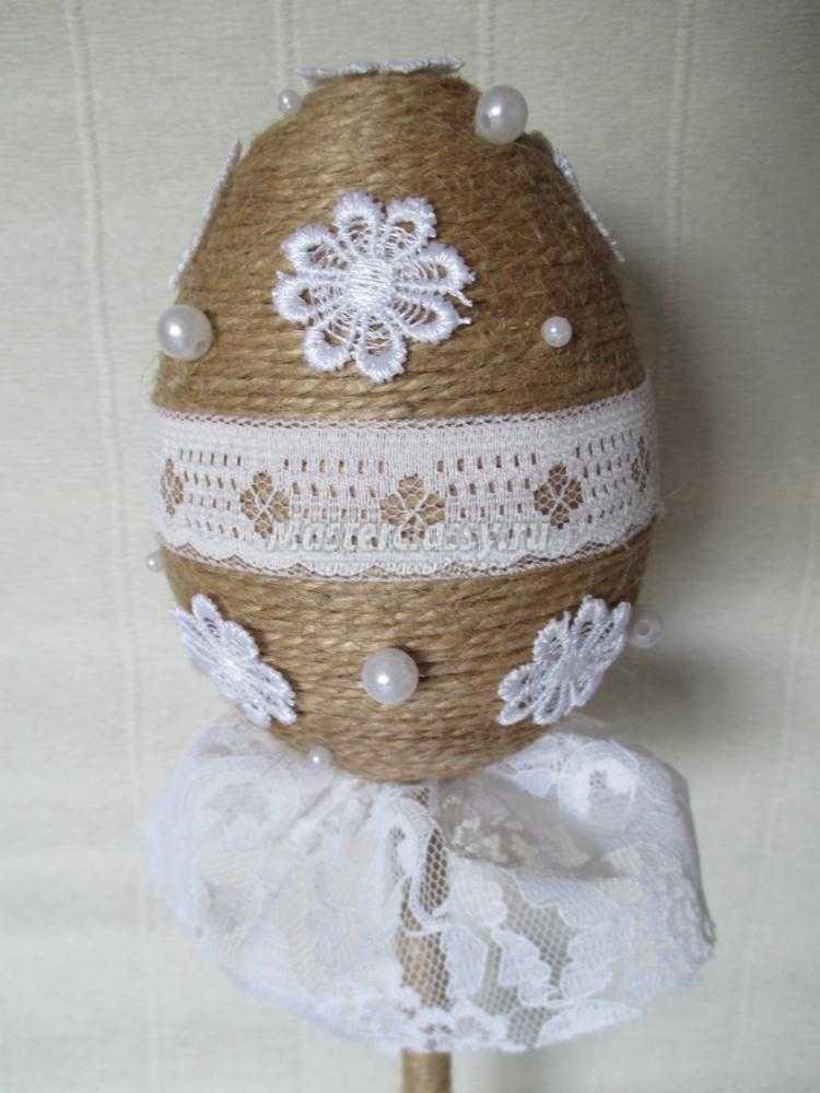 топиарий из шпагата своими руками. Пасхальное яйцо