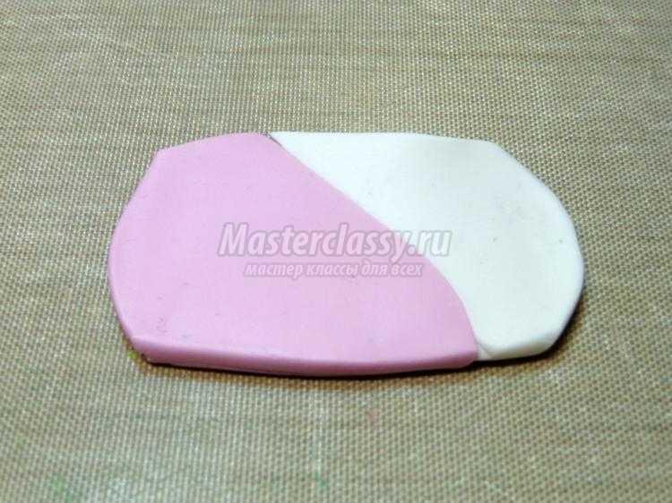 комплект украшений из полимерной глины. Нежные пионы