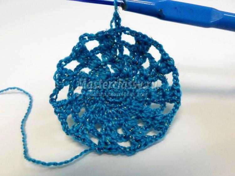 вязаная ажурная сумка крючком