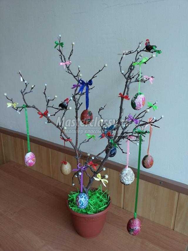 пасхальное дерево с яйцами своими руками