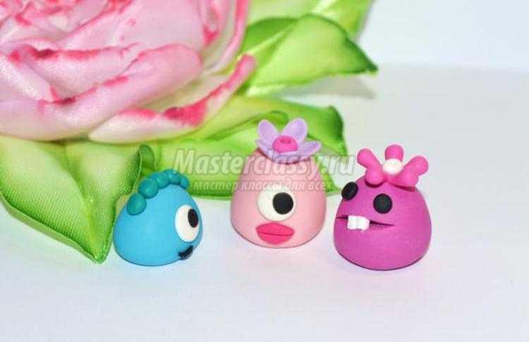 игрушки из полимерной глины. Монстрики-милашки