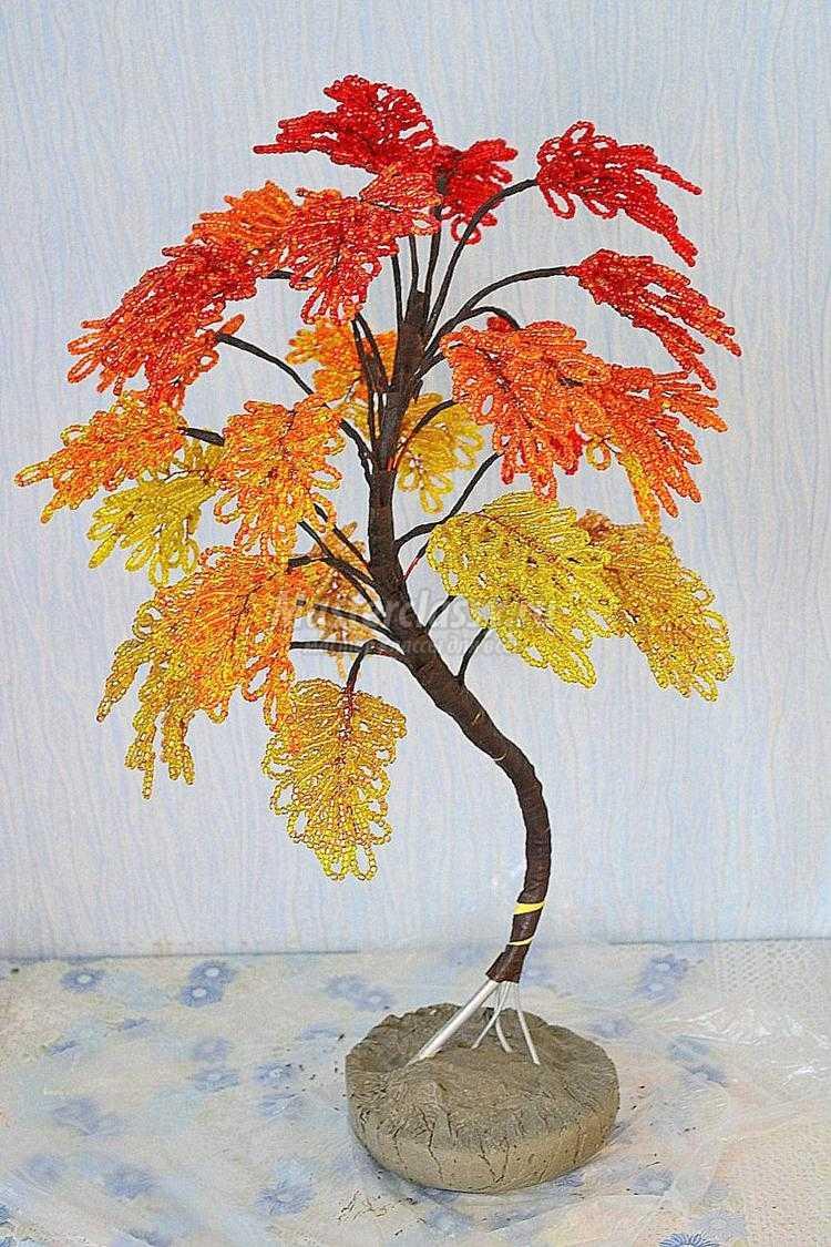 Осеннее дерево своими руками из природного материала фото 478