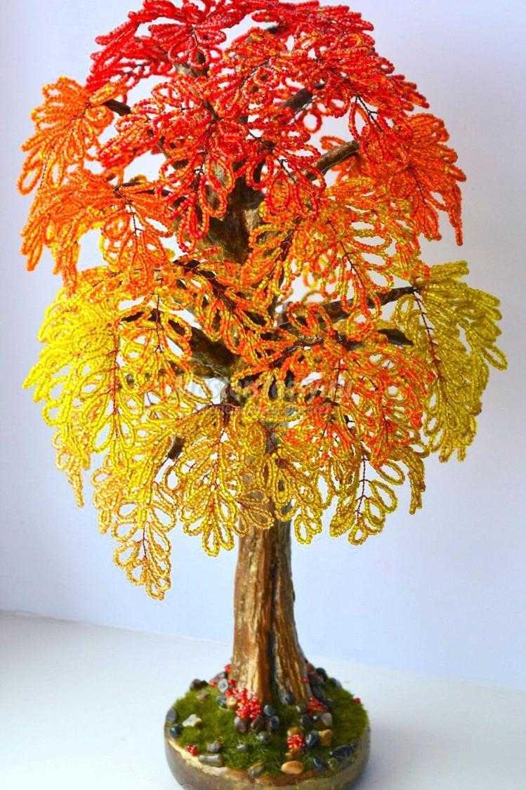 деревья бонсай бисером схемы