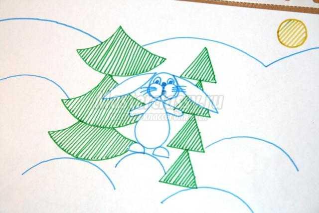 методическая разработка занятия. Рисование животных с помощью трафаретного круга