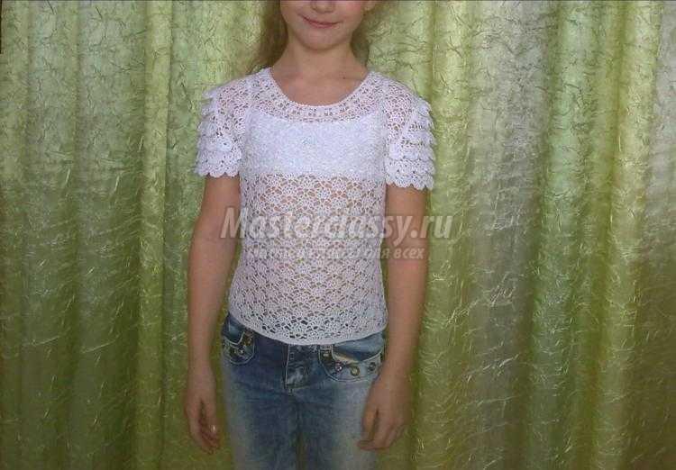 вязаная блузка крючком для девочки