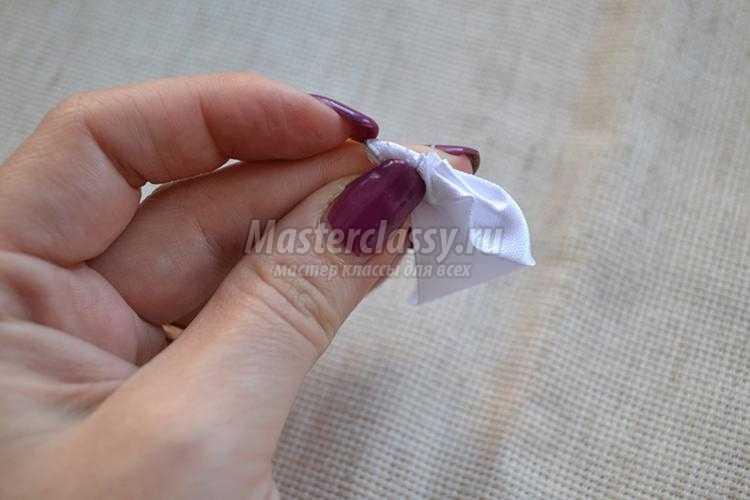 повязка с цветами канзаши для греческой прически