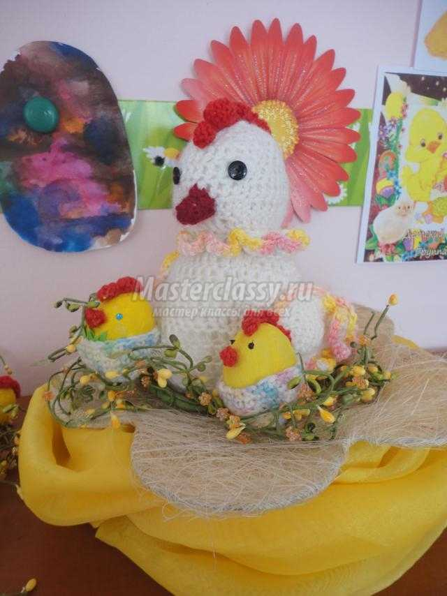 пасхальная поделка из гипса. Цыплятки в детском саду