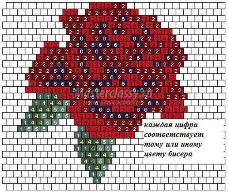 вышивка бисером брошь роза мастер класс с пошаговыми фото