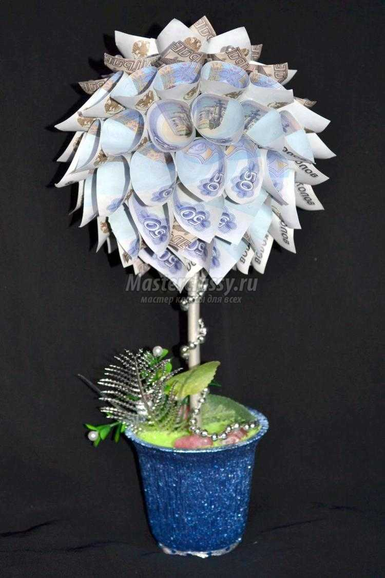 Топиарий денежное дерево из купюр своими руками фото 668