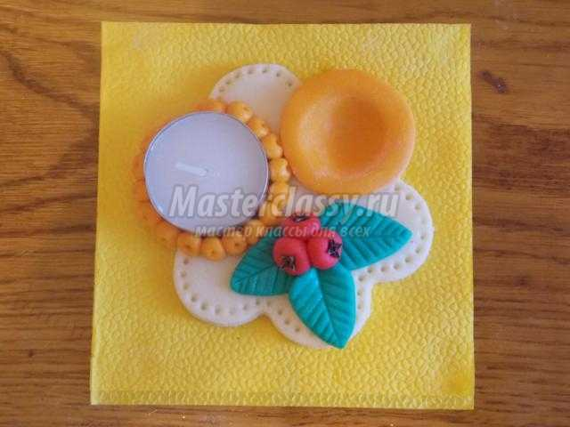 подставка для пасхальных яиц из солёного теста