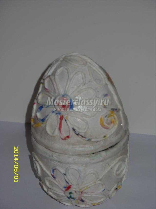 пасхальное яйцо-шкатулка в технике декупаж