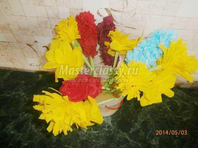 весенний цветок из салфеток торцевание. Гиацинт