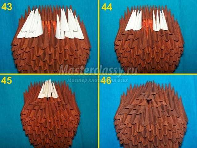 Модульное оригами Чебурашка
