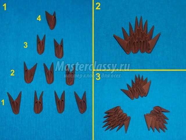 Схема оригами чебурашка