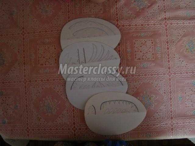 пасхальные открытки из картона и бархатной бумаги в технике вытинанка